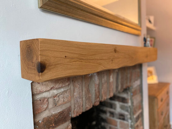 Oak Beam Fireplace Above Log Burner Mantle Floating Shelf