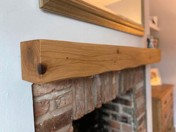 Oak Beam Fireplace Above Log Burner Mantle Floating Shelf