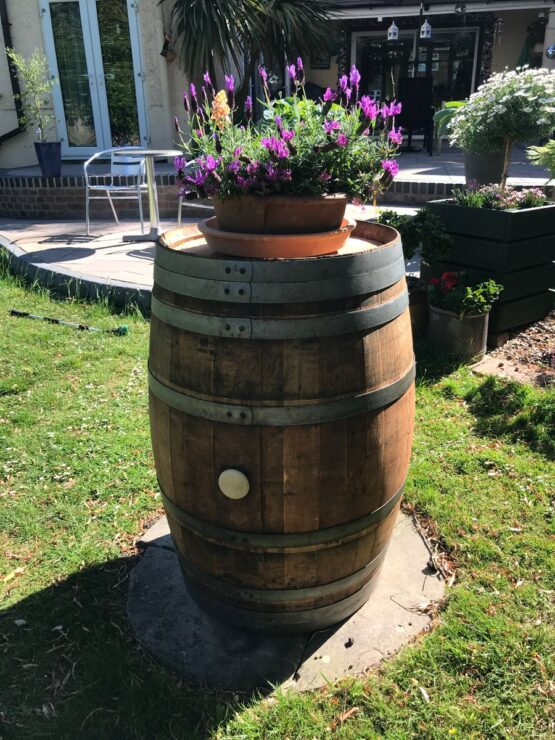 Oak Wine Barrel Garden Decoration