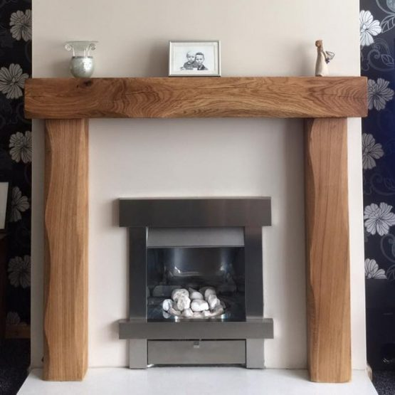 Lightly Worked Solid Oak Beam Fire Surround