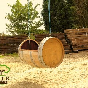 Oak Wine Barrel Swing