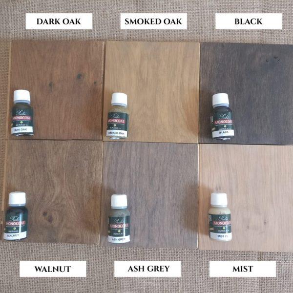 Coloured Oak Protective Oils