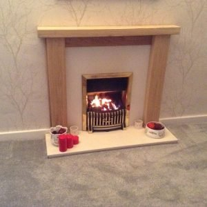 Solid Oak Beam Fire Surround with Smooth Contemporary Finish