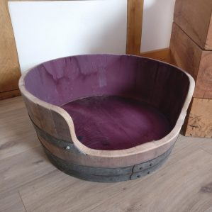 Oak Wine Barrel Dog Bed