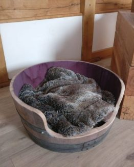 Solid Oak Wine Barrel Dog Bed