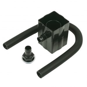 Black Floplast Rainwater Diverter