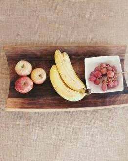 Large Fruit Bowl Crafted from Oak Wine Barrel Staves