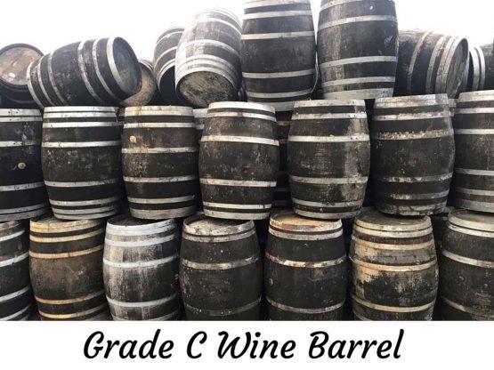 Grade C Used Oak Wine Barrels - reused for whiskey distillation