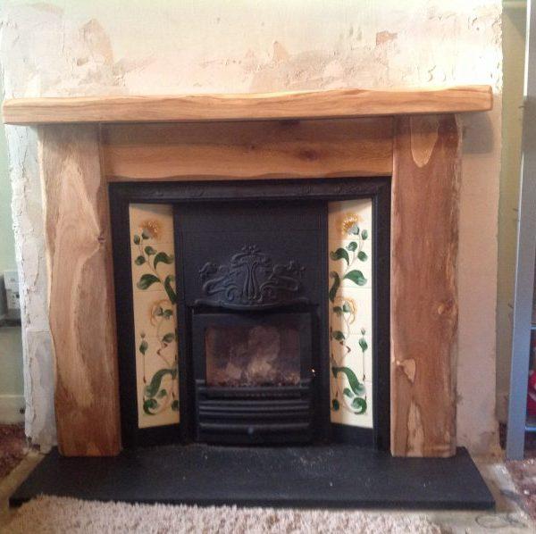 Worked Oak Fireplace Surround