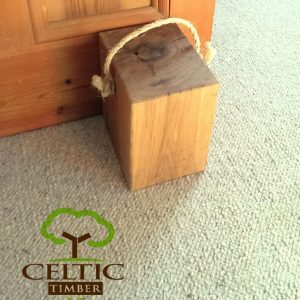 Handcrafted Oak Door Stop