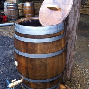 Oak Barrel Water Butt Conversion