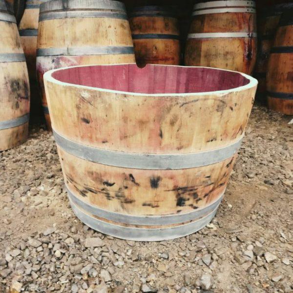 Quarter Wine Barrel Planter