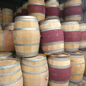 Red Wine Barrels for Sale - Red Belly Stains and Chetnut Hoops or No stains