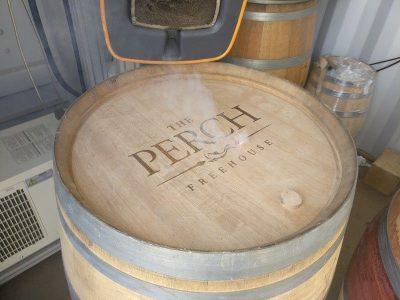 Engraved Oak Wine Barrel
