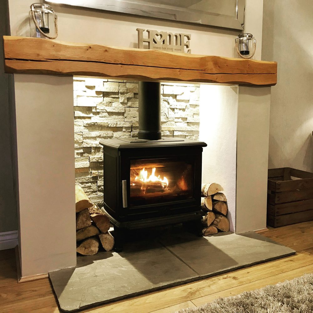 Oak Beam Fireplace Character Mantelpiece Multiple Size