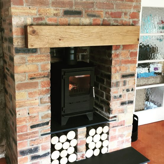 Contemporary Oak Beam with Pure Oil