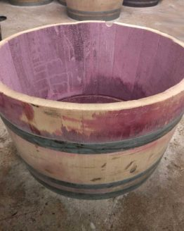 Oak Half Red Wine Barrel Planter