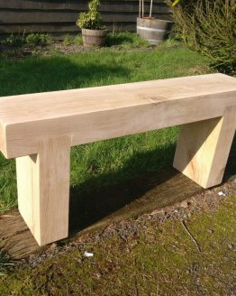 Solid French Oak Beam Garden Bench - 10x5