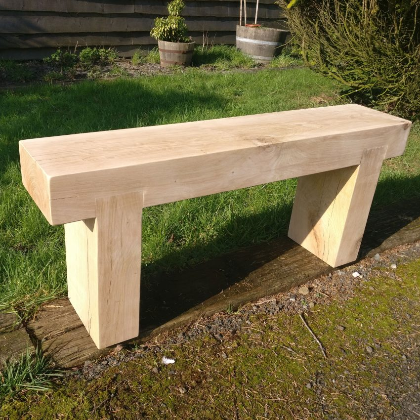 Prime Solid Oak Beam Garden Bench Caraccident5 Cool Chair Designs And Ideas Caraccident5Info