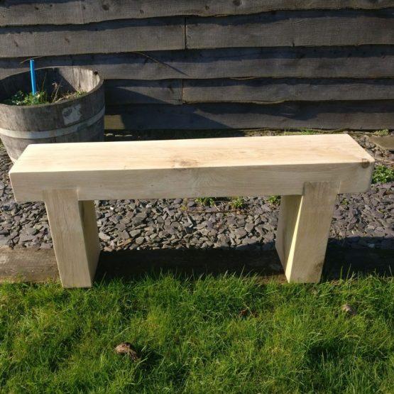 Solid French Oak Beam Garden Bench - 10x5
