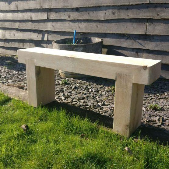 Solid French Oak Beam Garden Bench