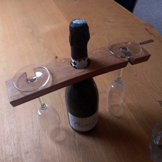 Oak Barrel Stave Wine Glass Holder