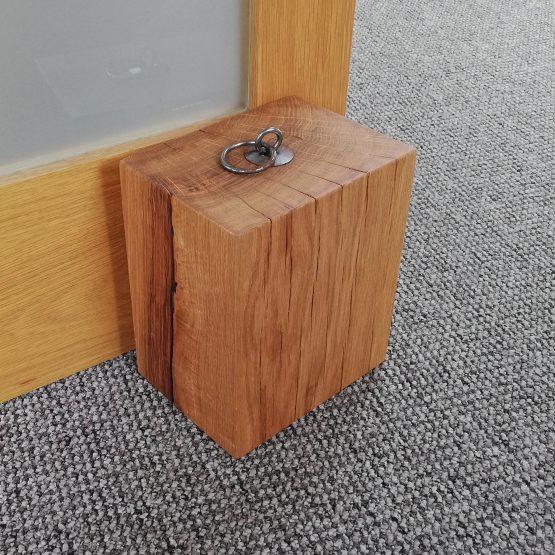"""Solid Oak Beam Door Stop Heavy Duty 8"""" x 6"""""""