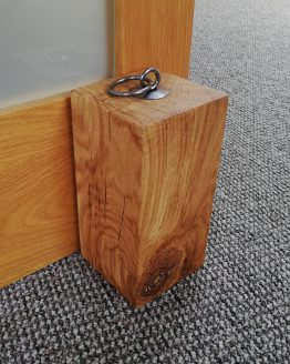 "Solid Oak Beam Door Stop Heavy Duty 5"" x 5"""