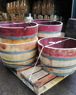 Pallet of Oak Wine Barrels