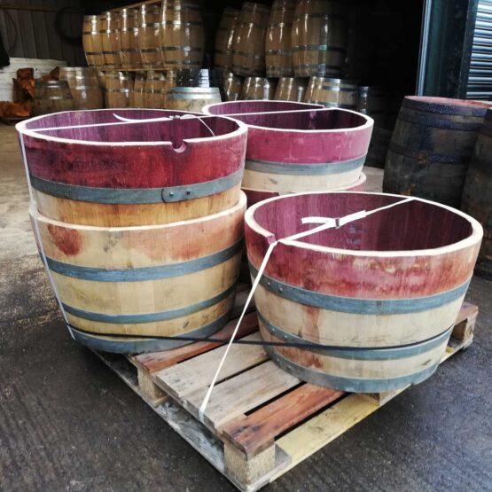 Pallet of Oak Wine Barrels