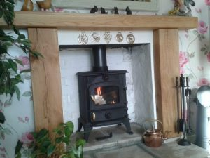 Contemporary Oak Beam Fire Surround