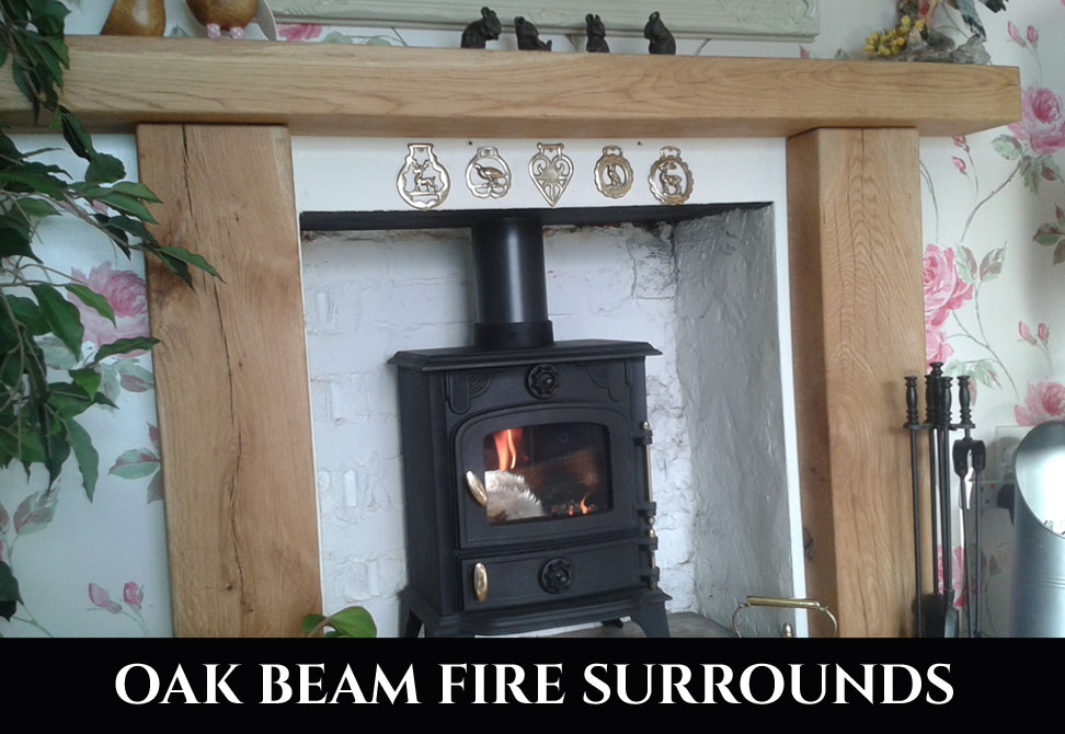 Oak Beam Fire Surrounds Celtic Timber