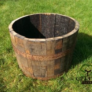 Medium Half Whiskey Barrel Planter