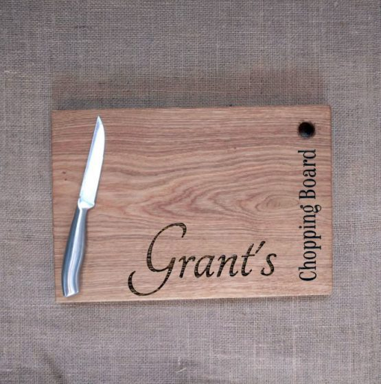 Personalised Oak Chopping Board with Name Engraved and No Handle
