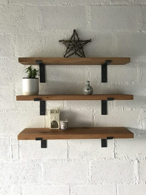 Set of Kiln Dried Oak Shelves
