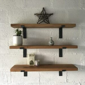 Set of Kiln Dried Oak Shelves