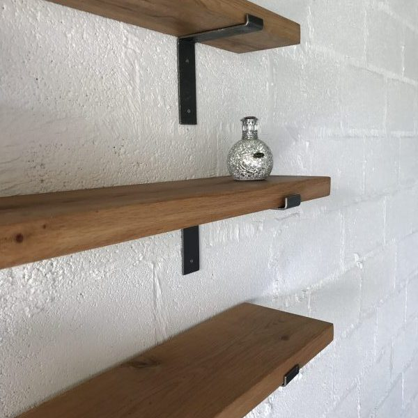 Dark Oak Shelves with Coloured Oil