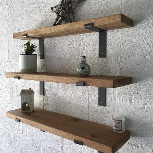 Oak Shelves Kiln Dried With L Shape Brackets Celtic Timber