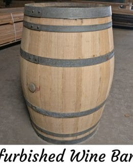 Refurbished Sanded Oak Wine Barrel