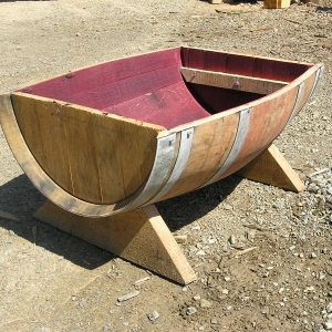 Trough Style Wine Barrel Planter