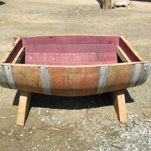 Trough Style Barrel Planter