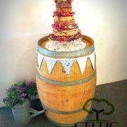 Wine Barrel Wedding Cake Stand