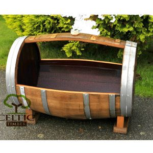 Cradle Wine Barrel Planter