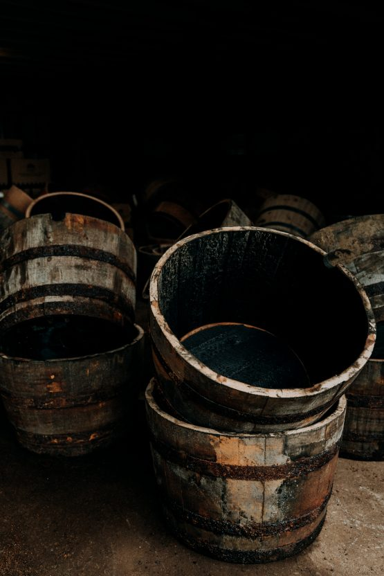 Half Whiskey barrel Oak Planters for Gardens