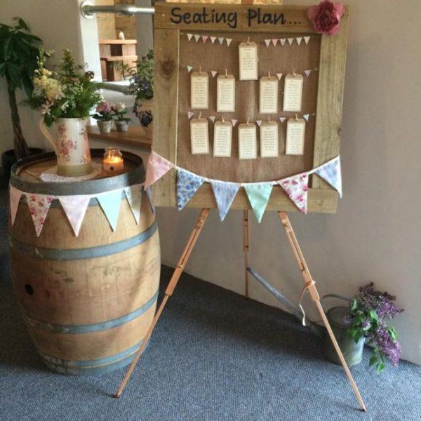 Oak Wine Barrel Wedding Cake Stand