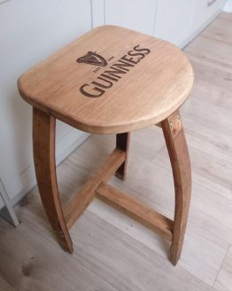 Oak Wine Barrel Stool