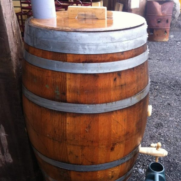 Oak Wine Barrel Water Butt 55 Gallon Celtic Timber