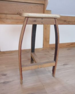 Oak Barrel Stool