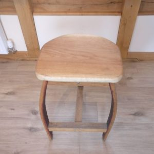 Oak Bar Stool from Oak Barrel