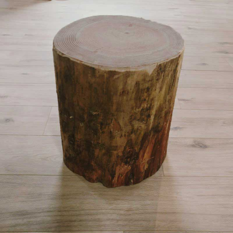Softwood Log Stump Stool Table, Tree Trunk Furniture Uk